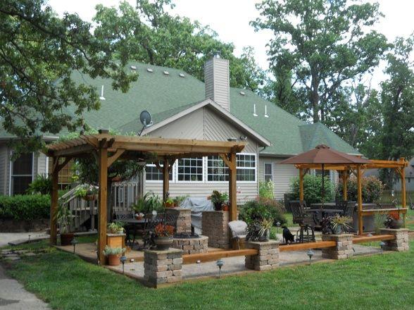 Backyard Paradise: Backyard Paradise, Two Level Patio Area