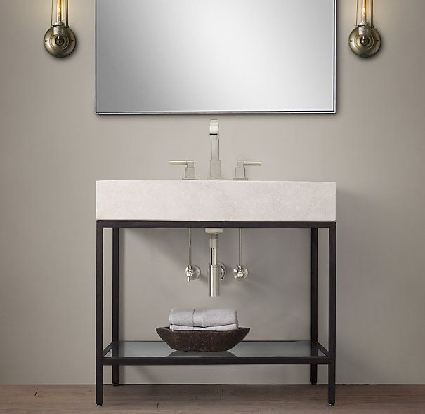 Hudson metal single frame washstand guest bathroom Double sink washstand