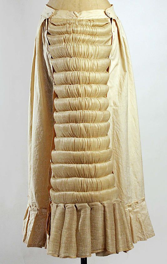 Bustle 1873, Austrian, Made of cotton and horsehair: