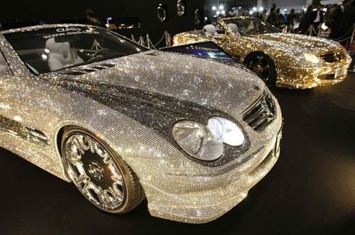 nope! it's a REAL car....just diamond studded is all.