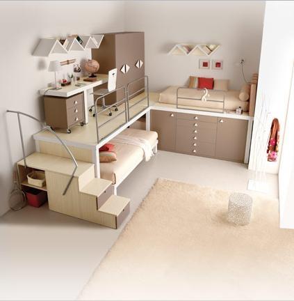 efficient room: Kids Bedrooms, Small Bedrooms, Loft Bedrooms, Kidroom, Bunk Beds, Spaces Save, Small Spaces, Bedrooms Ideas, Kids Rooms