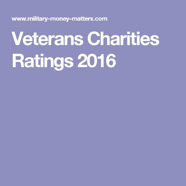 Veterans Charities Ratings 2016