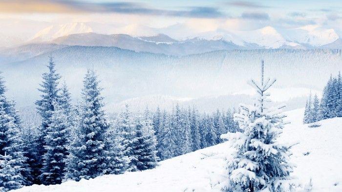 Desktop Wallpaper Christmas Holiday Desert Mountainous Landforms Freezing Hd Beautiful Backgr Winter Scenery Winter Wallpaper Hd Winter Desktop Background