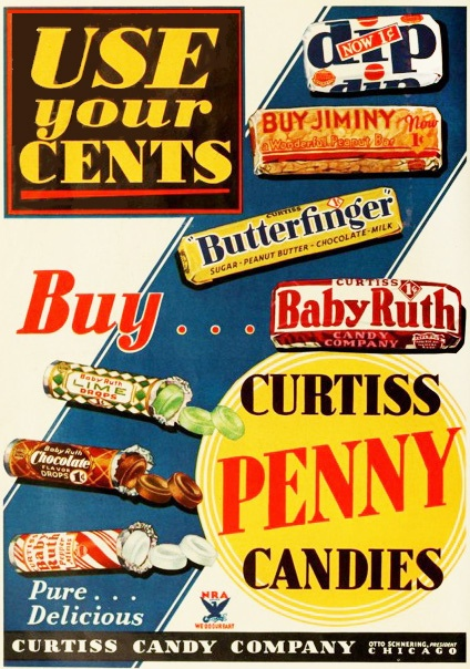 Penny Candies, remember when you could fill a little paper bag with a quarter?