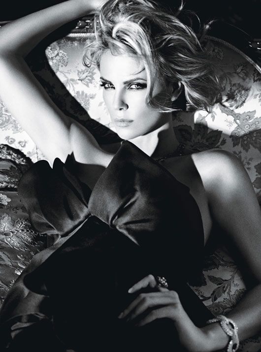 Charlize Theron. Photographed by Mario Sorrenti. Styled by Edward Enninful.