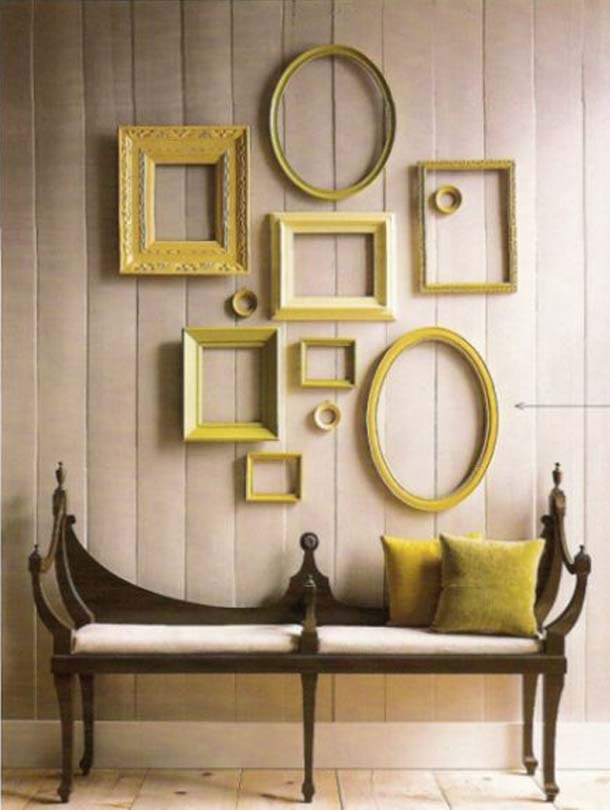 ... empty frames on wall ...To use on backdrop.. Could be painted any color