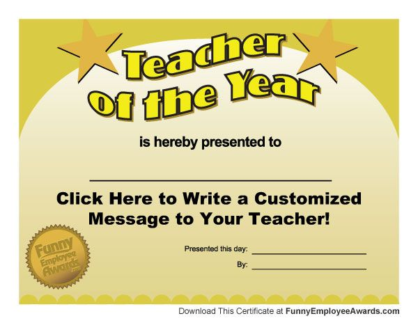 Silly Certificates Awards Templates. Funny Certificates Template ...