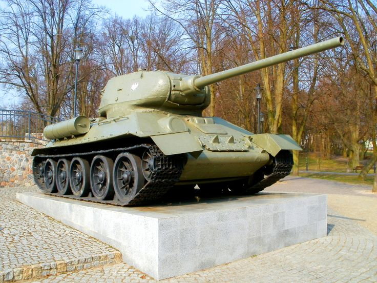 T34-85 best tank of World War II. This copy is now a monument to soldiers of the 1st Armoured Brigade of the Polish Army who took part in the battles for the liberation of Pomerania including Wejherowo town where the monument is located. I took this photo in april 2015.