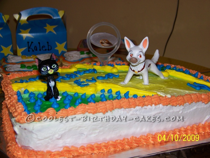 Bolt Birthday Cake