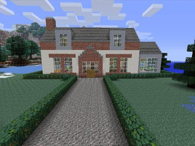 home creative mode mojang barn modern house home bungalow minecraft