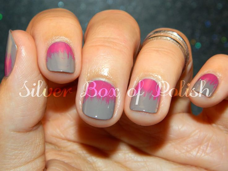 Silver Box of Polish: Just a Quickie: Fan Brush Nails