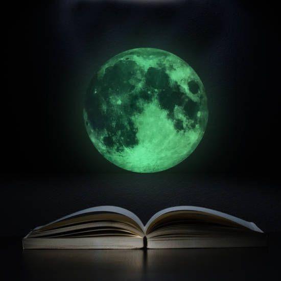 Világító hold foszforeszkáló falmatrica