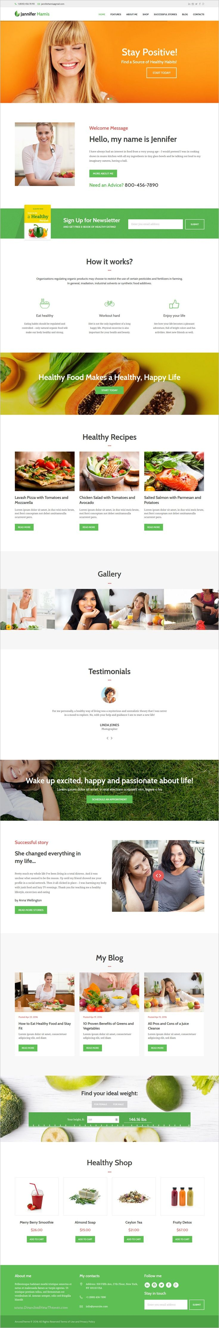 Health Coach is a wonderful responsive #WordPress theme for personal #health #coaches, #trainers, diet and nutrition consultants, healthy lifestyle blogs, recipe blogs and healthy shop websites download now➩ https://themeforest.net/item/wp-theme-for-personal-health-coach-healthy-lifestyle-blog/16867307?ref=Datasata