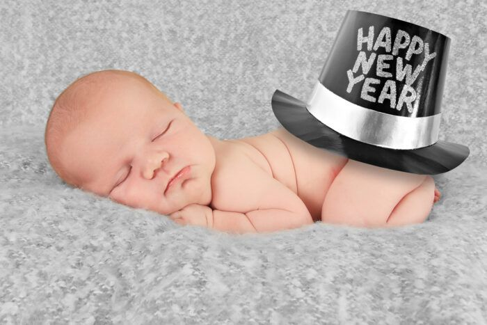I Am Giving You Permission To Not Make New Year S Resolutions In 2020 Happy New Year Baby New Baby Photos Monthly Baby Pictures
