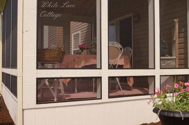 Painted Deck Floors - White Lace Cottage