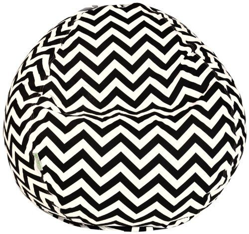 Majestic Home Goods Black Chevron Small Bean Bag