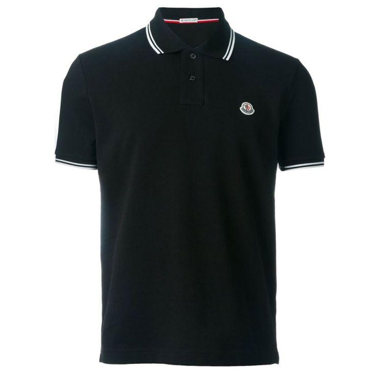 Moncler Tişört Polo Yaka Siyah
