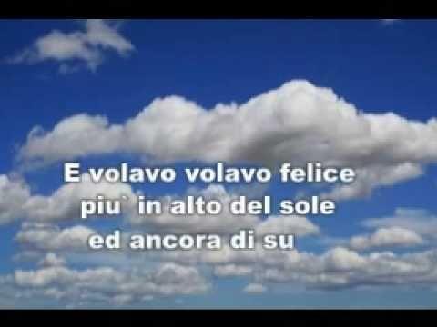 DOMENICO MODUGNO - VOLARE    Per imparare a cantare la bella canzone Volare. Para aprender a cantar la bella canción Volare