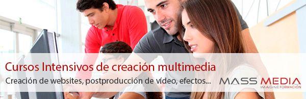 Cursos intensivos sobre creación audiovisual, de websites y multimedia, para ser un profesional completo y competente en el sector.