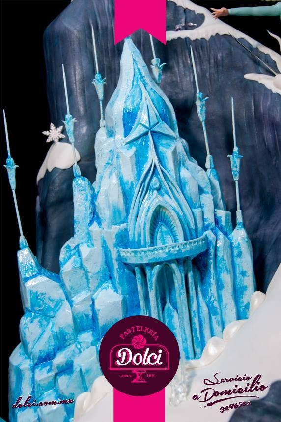 Castillo De Frozen Con Cereal Chocolate Para Modelar Y