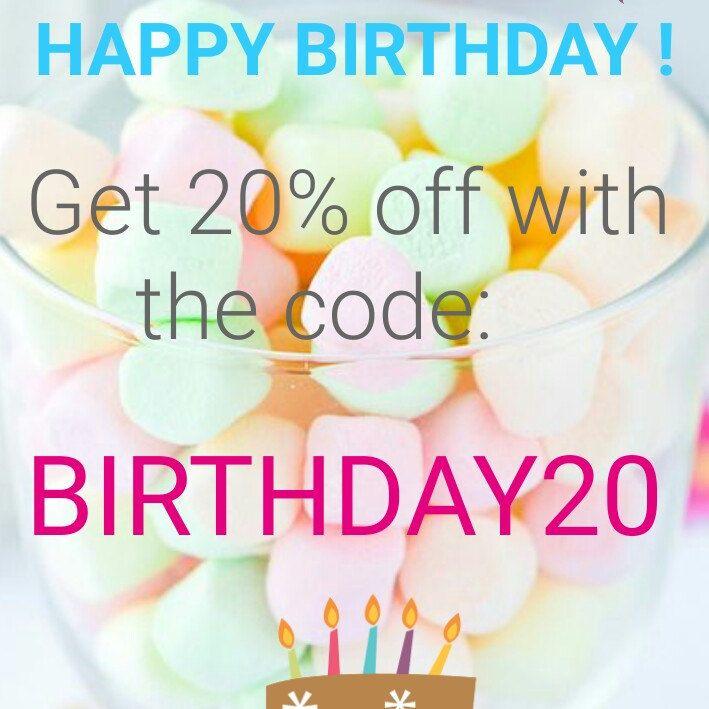 Special 20th birthday, get 20% off of everything for 10$ minimal order until February the 13th - Spécial 20ème anniversaire, économisez 20% sur tous les bijoux pour une commande de 10€ minimum, valable jusqu'au 13 février ! 🌞🌞