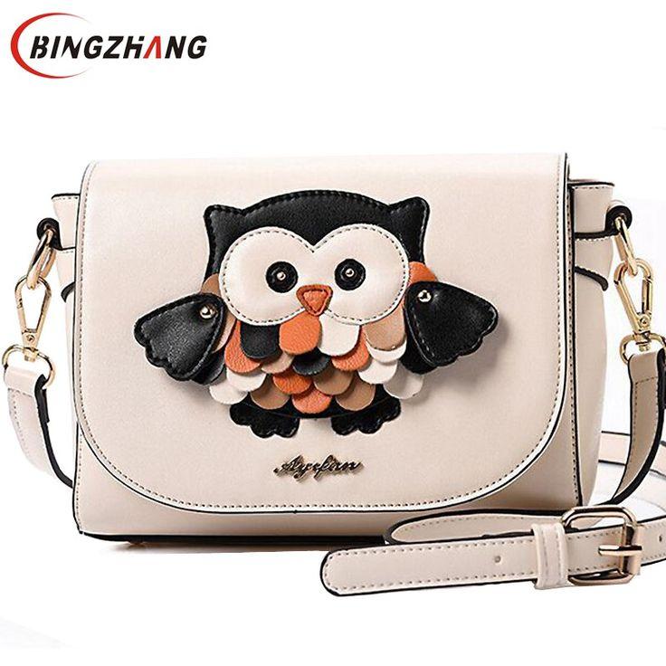 Cute owl cartoon bag