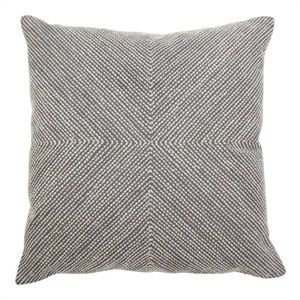 CUSH01530 Cushion dot embroidery charcoal/natural 50x50