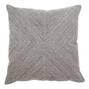 CUSH01530 Cushion dot embroidery charcoal/natural 50x50