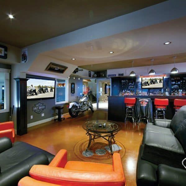 50 Awesome Man Caves For Men Masculine Interior Design Ideas Cigar Lounge Man Cave Man Cave Basement Man Cave