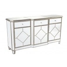 Our Kensington Chest is a beautiful mirrored piece.  Use in the Bedroom as a chest or in the living room