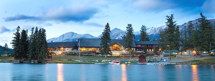 The Fairmont Jasper Park Lodge (closest thing to twin peaks's the great northern i've ever seen; must go there).