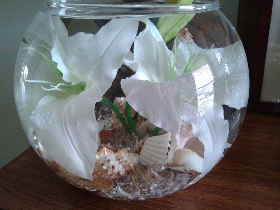 Centro de mesa de tazón de fuente grande florero por WreathsByDiane