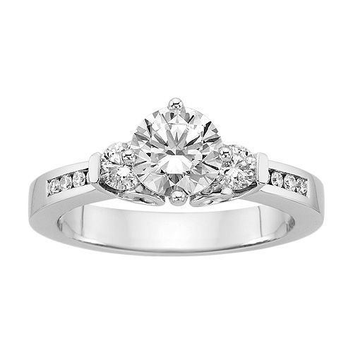 Simple Fred Meyer Jewelers ct tw Diamond Engagement Ring