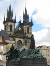 Statue of Jan Hus, Rector of Charles University in Prague, Czech Republic. He was burnt at the stake for his opposition to corruption.