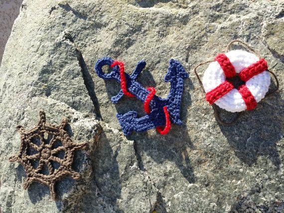 Nautical Applique Anchor life preserver by GingerBreadSurprise, $5.00