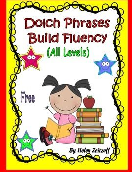 Free!! Each time a level of the Dolch list is completed, you can use the selected level in this book to use for practice homework. Phrases are used to provide practice and fluency with word recognition of the Dolch Sight Words.