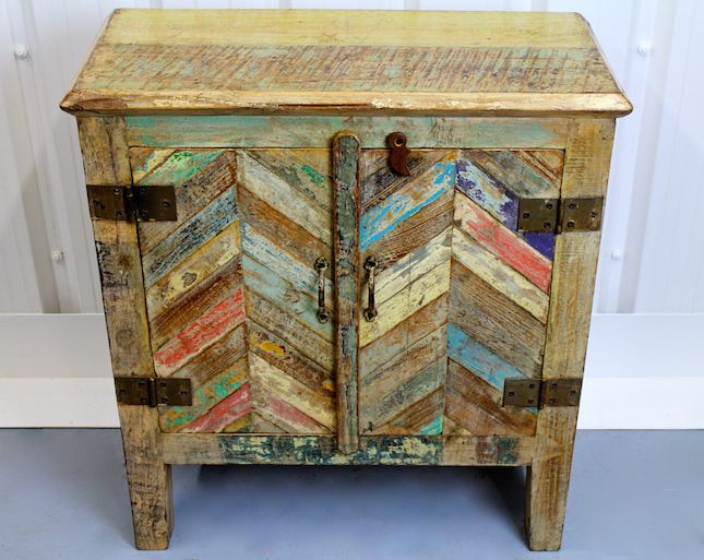 Funky Reclaimed Wooden Small Cabinet