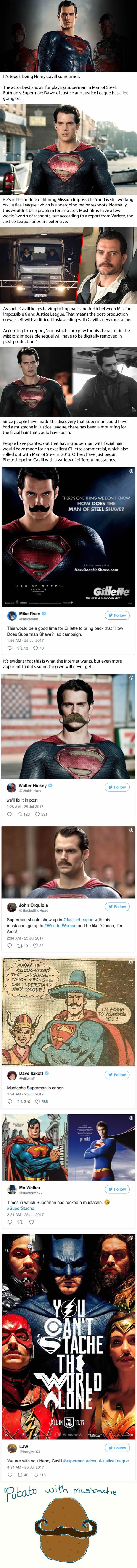 A Moment Of Silence For Superman's Erased Mustache In Justice League