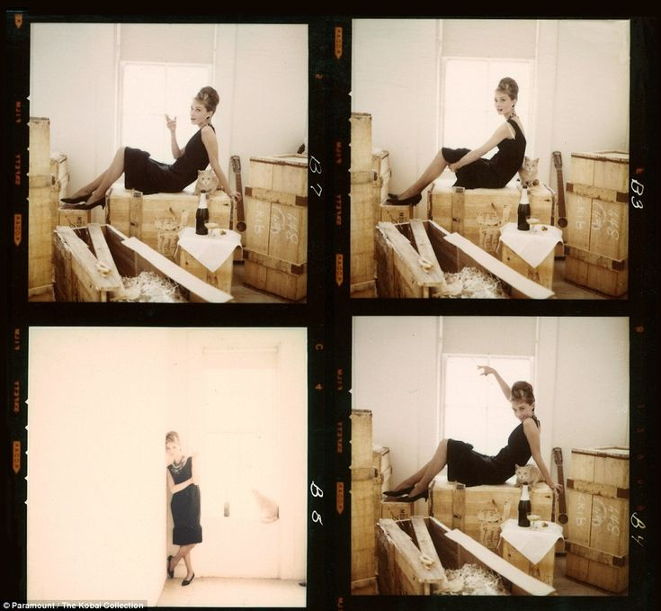 Audrey Hepburn on the set of her film Breakfast At Tiffany's (1961), directed by Blake Edwards