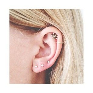 lobe studs and cartilage ring and stud.