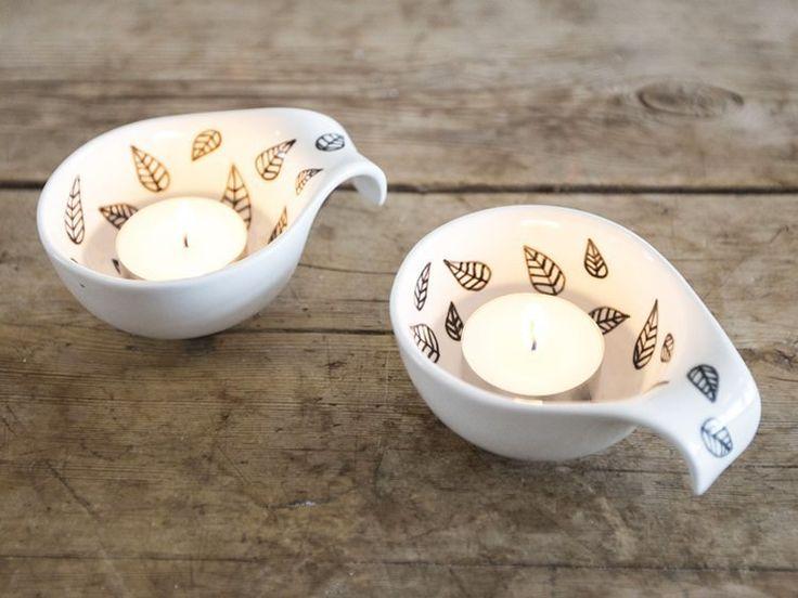 DIY - Hand-painted tealight holders