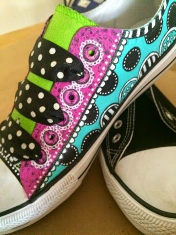 a sprinkle of imagination design team -  altered shoes by Tracy