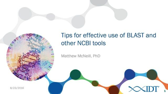 Tips for effective use of BLAST and other NCBI tools