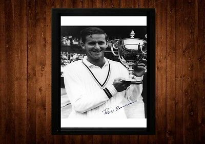 Roy emerson signed framed pp a4 #print tennis #wimbledon gift #ideas,  View more on the LINK: 	http://www.zeppy.io/product/gb/2/261264717841/