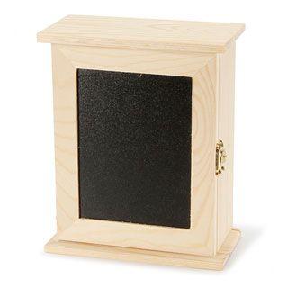 Unfinished Wood Key Box Cabinet