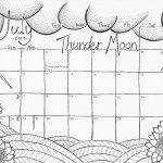 "July 2017 ""Thunder Moon"" Coloring Page"