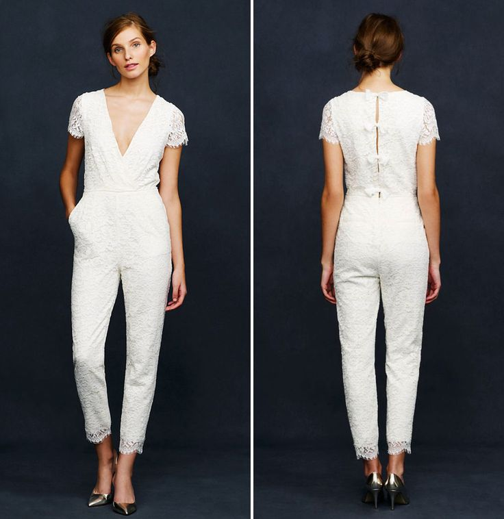 (via) 14 BRIDAL JUMPSUITS FOR NON-TRADITIONAL BRIDES   - Cosmopolitan.co.uk  Maybe for the reception or send off