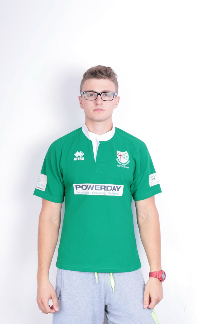 Errea London Irish A.R.F.C Mens S Shirt Short Sleeve Green Rugby Sport Football