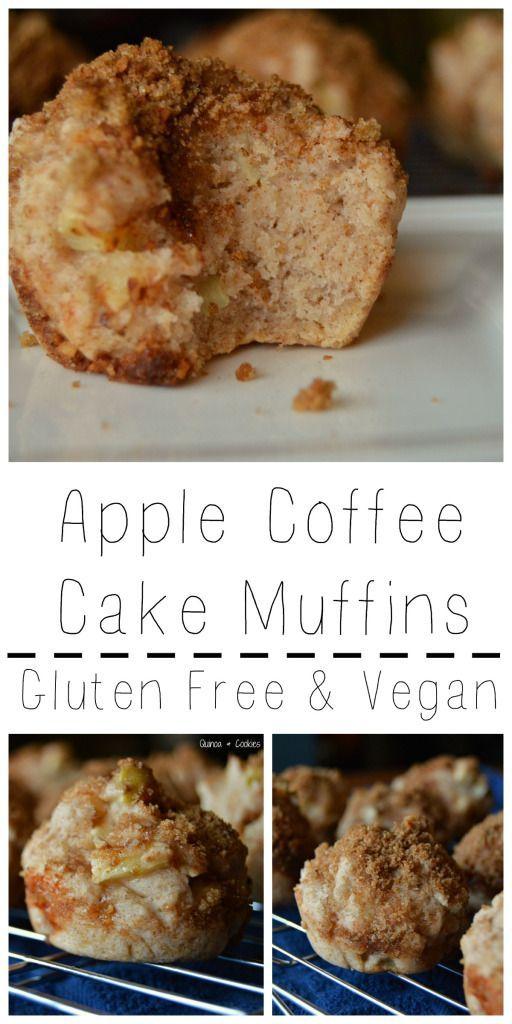 Apple Coffee Cake Muffins Gluten Free Vegan In 2020 Apple Coffee Cakes Gluten Free Coffee Cake Gluten Free Apple Cake