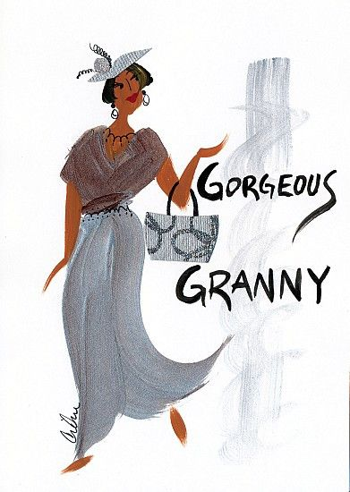 Gorgeous Granny Magnet by Cidne Wallace
